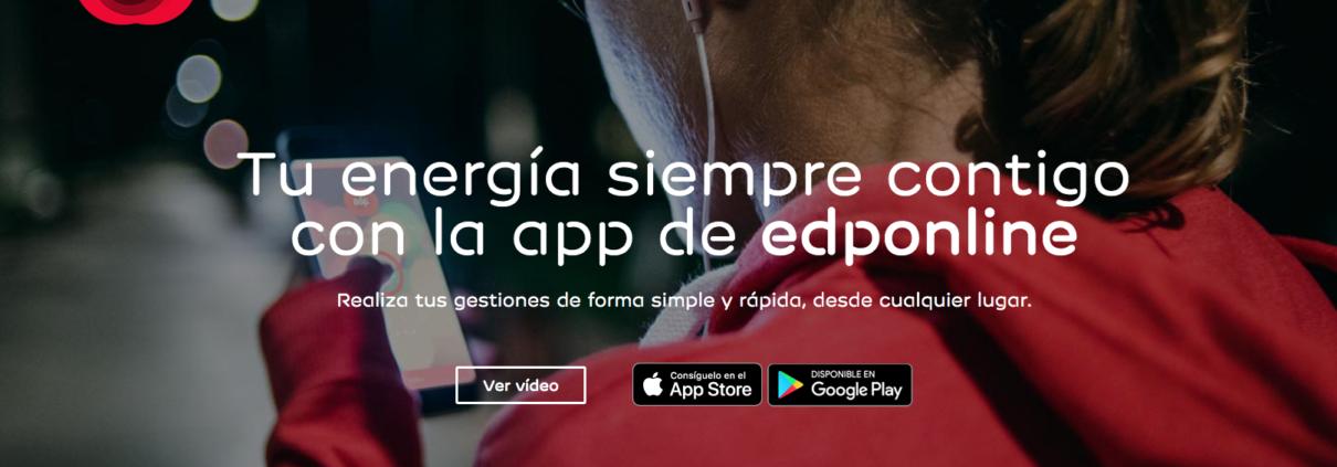 Te energia siempre contigo con la app de EdpOnline.